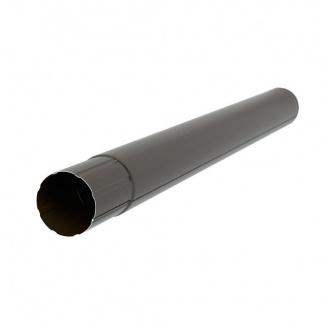 Водосточная труба Акведук Премиум 87 мм 3 м темно-коричневый RAL 8019