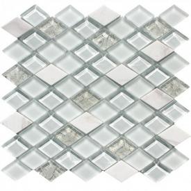 Мозаика из мрамора и стекла VIVACER T-04 300x300 мм