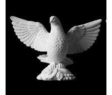 Скульптура голубя из литьевого камня 300х410х150 мм
