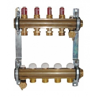 Комплект штанговых распределителей HERZ с расходомерами 2,5 л/мин 8 отводов DN 25 1 дюйм (1853208)