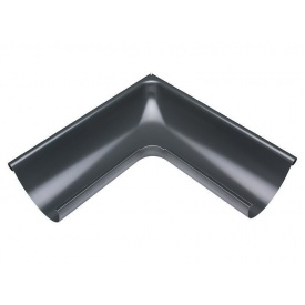 Зовнішній кут жолоба Акведук Преміум 135 градусів 125 мм графітовий RAL 7011