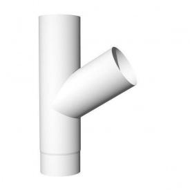 Трійник Акведук Стандарт 87 мм білий RAL 9003