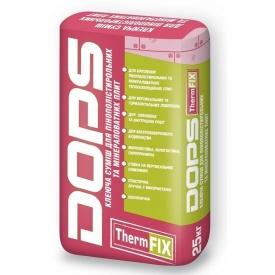 Клей Dops Therm Fix для приклеювання пінопласту та мінвати 25 кг