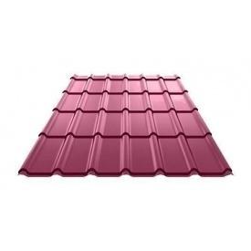 Металочерепиця Ruukki Decorrey Polyester 0,5 мм червоне вино