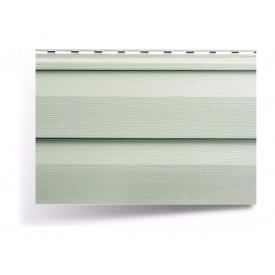 Сайдинг вініловий Альта-Профіль Alta-Siding двухпереломний 3660х230х11 мм сіро-зелений