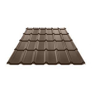 Металлочерепица Ruukki Decorrey Polyester 0,5 мм темно-коричневый