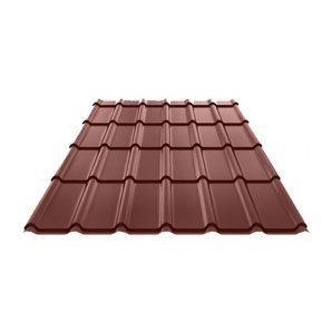 Металлочерепица Ruukki Decorrey Polyester 0,5 мм шоколадный