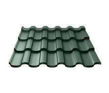 Металочерепиця Ruukki Adamante Polyester Matt 0,5 мм темно-зелений