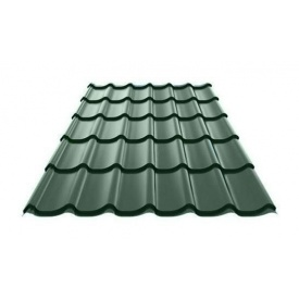 Металочерепиця Ruukki Monterrey Polyester Matt 0,5 мм темно-зелений