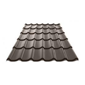Металочерепиця Ruukki Monterrey Polyestеr 0,5 мм темно-коричневий
