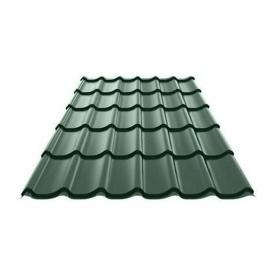 Металочерепиця Ruukki Monterrey Purex/Crown BT 0,5 мм темно-зелений