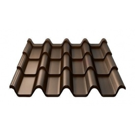 Металочерепиця Ruukki Armorium Purex 0,5 мм темно-коричневий