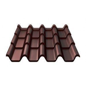 Металлочерепица Ruukki Armorium Pural Matt 0,5 мм шоколадный