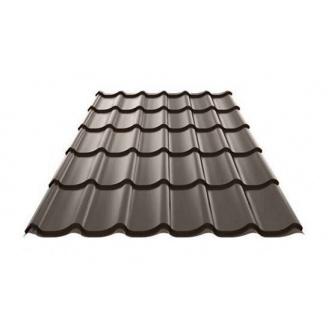 Металлочерепица Ruukki Monterrey Polyestеr 0,5 мм темно-коричневый
