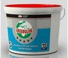 Краска структурная акриловая Anserglob универсальная 15 кг