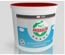 Штукатурка декоративная силиконовая Anserglob короед 2,5 мм 25 кг белая