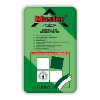 Универсальный наливной пол-стяжка Master Continent 20 кг серая