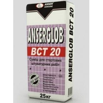 Штукатурка стартовая Anserglob BCТ-20 25 кг серая