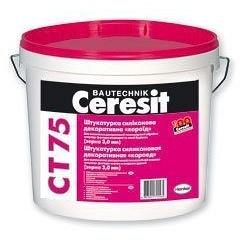 Штукатурка силиконовая Ceresit СТ-75 База короед 2 мм 25 кг
