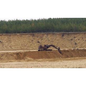 Песок овражный насыпью 10 т