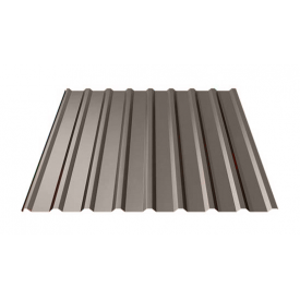 Профнастил Ruukki Т20 Polyester 17,5 мм темно-коричневый