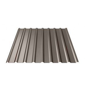 Профнастил Ruukki Т20 Purex 17,5 мм темно-коричневый