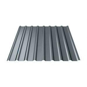 Профнастил Ruukki Т20 Polyester matt 17,5 мм темно-серый