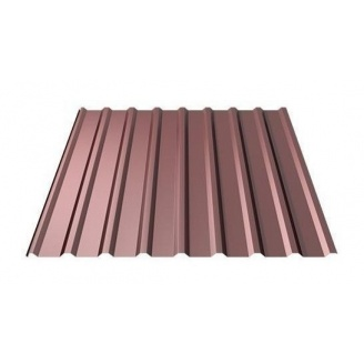Профнастил Ruukki Т20 Polyester 17,5 мм шоколадный