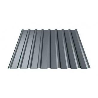 Профнастил Ruukki Т20 Polyester matt 17 мм темно-серый