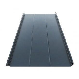 Фальцева покрівля Ruukki Classic D Silence Pural matt 505 мм темно-сірий