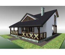 Будівництво житлового будинку за проектом Optima 019