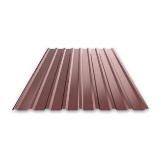 Профнастил Ruukki Т15 Purex фасадный 13,5 мм шоколадный