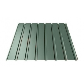 Профнастил Ruukki Т15-115 Polyester фасадный 13,5 мм темно-зеленый