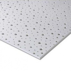 Гипсокартон Knauf Cleaneo Akustik PLUS 12/20/35R 4SK 12,5х1200х2500 мм черный