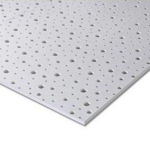 Гіпсокартон Knauf Cleaneo Akustik PLUS 12/20/35R 4SK 12,5х1200х1875 мм білий