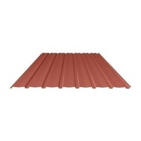 Профнастил Ruukki Т15-115V Polyester matt фасадный 13,5 мм красный