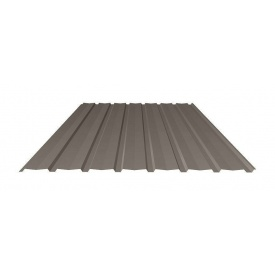 Профнастил Ruukki Т15-115V Polyester matt фасадный 13,5 мм темно-коричневый