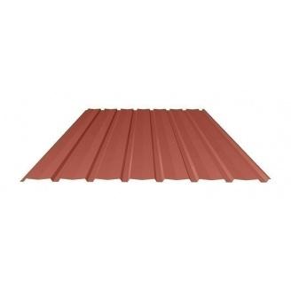 Профнастил Ruukki Т15-115V Polyester matt стеновой 13 мм красный