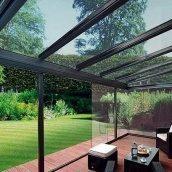 Скління тераси алюмінієвими світлопрозорими конструкціями