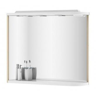 Зеркало RAVAK Praktik M 780 L 780х160х680 мм береза/белый