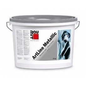 Фарба Baumit ArtLine Metallic 15 кг з ефектом металік