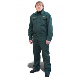 Костюм рабочий модельный ТК-Спецодяг саржа зеленый