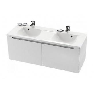 Шкафчик под двойной умывальник RAVAK Classic SD 1300 1300x490x470 мм белый/белый