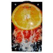 Газовий проточний водонагрівач ІСКРА JSD 20 LCD MT-1 10 л/хв принт апельсин скло