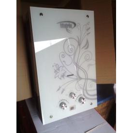 Газовый проточный водонагреватель Matrix принт цветок стекло - 10 л/мин