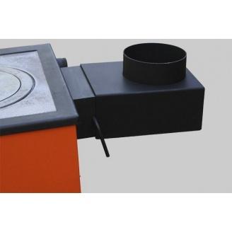 Переход дымохода прямоугольный MaxiTer m 200х100 на круглый 150 мм