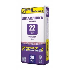 Шпаклевка БудМайстер ТИНК‑22 20 кг белый