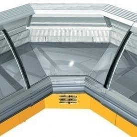 Холодильная витрина РОСС Sorrento-УВ угловая внутренняя 2182х1247х1260 мм 485 Вт