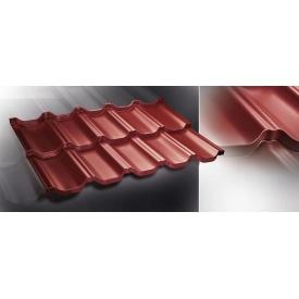 Модульная металлочерепица Venecja Prelaq X-Matt 0,805 м2 красная