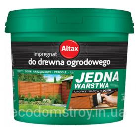 Импрегнант для нешлифованной древесины Altax 10 л махонь